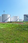 Big White Industrial Tank