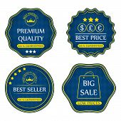 Collection of sale icons, badges or labels
