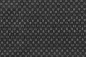 Texture Of Black Fabric With An Abstract Pattern
