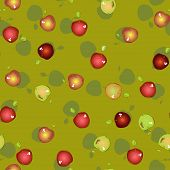 Seamless pattern of appetizing apples.