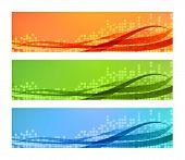 Three modern Banners