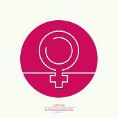 female symbol of the tape.