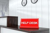 Help Sign Plate 3D Render Interior