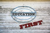 Education First sign on shed side
