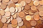 Pile Of 5 Euro Cents
