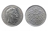 Old Silver Coin Of German Reich