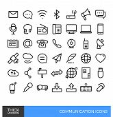 Communication Thick Line Icons.eps