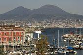 Mount Vesuvius, and the Gulf of Naples