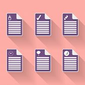 Set Of Six Document Icon