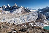 Ngozumba Glacier, The Largest Glacier In Great Himalaya