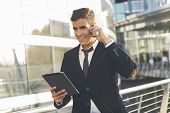 Businessman using a phone
