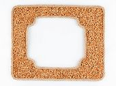 Two Frames Of The Rope With Wheat  Grain On A White Background