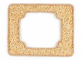 Two Frames Of The Rope With Barley Grain On A White Background