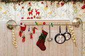 Christmas kitchen still life