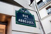 Rue Des Abbesses - street sign