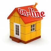House and on-line (clipping path included)