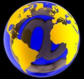 E-Mail sign in globe