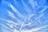 picture of cloud formation  - abstract cloud formations in a blue sky - JPG