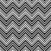 Zigzag Contrast Seamless Pattern