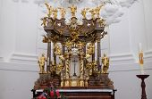 SALZBURG, AUSTRIA - DECEMBER 13: Altar in Collegiate church in Salzburg on December 13, 2014.
