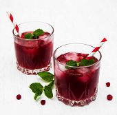 Cranberry Cocktail With Mint