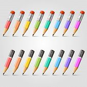 Pencil vector background collection