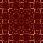 Seamless Vintage Background With Ornament