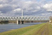 Bridge Across The River Rhine