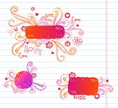 Vector doodle frames for Valentines day. Very useful for any project