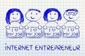Entrepreneurs Holding Panels That Says I Love My Job