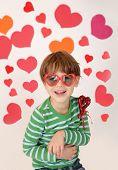 Valentine's Day Love: Child holding Heart