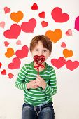 Valentine's Day Hearts And Kids Fun