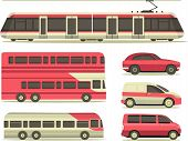 Set Of Urban Transport