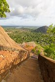 Ancient Staircase In Sigiriya, Sri Lanka