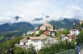picture of south tyrol  - Castle and village Scena in South Tyrol - JPG