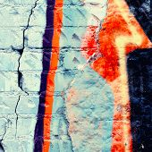stock photo of graffiti  - Colorful graffiti wall background for abstract space - JPG