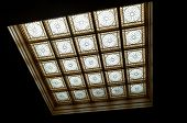 Floral Pattern Glass Skylight
