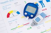 Health Examination. Glucometer And Test For Diabetes