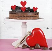 Valentine Chocolate Mousse Layer Cake