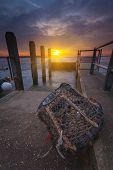 Sunset At Mudeford Quay In Hampshire