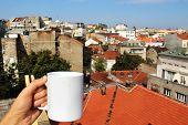 Beautiful View Of Belgrade Roofs, Serbia