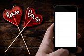 Two Heart Shape Lolly Pops