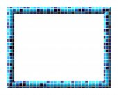 Frame With Colorful Tiles Texture