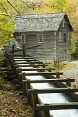 stock photo of olden days  - Built in 1886 this historic grist mill uses a water - JPG