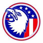 Eagle-head-lookup-american-flag