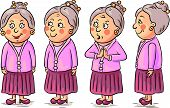Cartoon grandmother