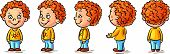 picture of cartoon character  - Happy baby cartoon character turnaround - JPG