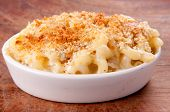 Macaroni Noodles And Cheese With Toasted Breadcrumb Topping