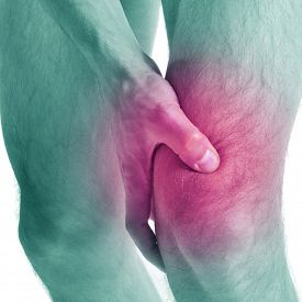 foto of cubit  - Acute pain in a knee at the man - JPG