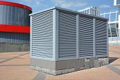 pic of ventilator  - Industrial air conditioning and ventilation systems on the sreet - JPG